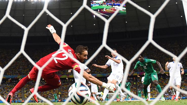Wilfried Bony's 74th minute goal temporarily brought the Ivory Coast level with Greece in Tuesday's Group C finale.