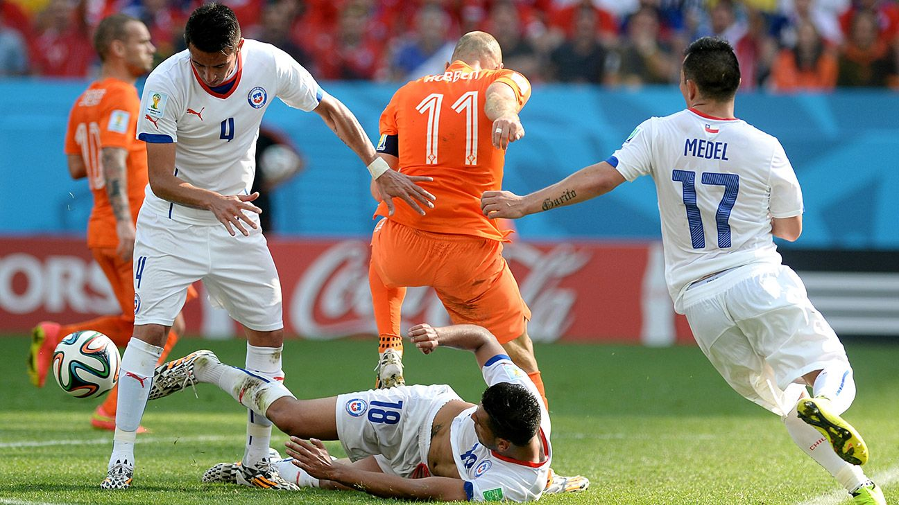 Chile's group stage finale loss to the Netherlands sets up a South American clash with nemesis Brazil.