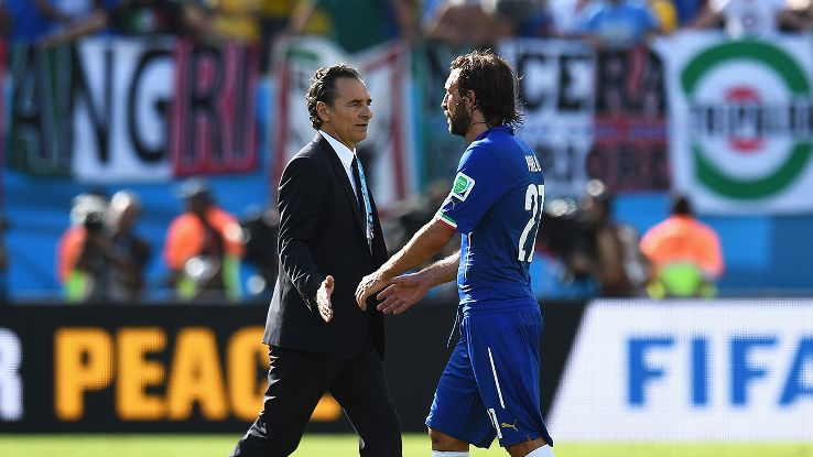 Both Cesar Prandelli and midfielder Andrea Pirlo saw their affiliation with the Italian national team end following Tuesday's defeat to Uruguay.