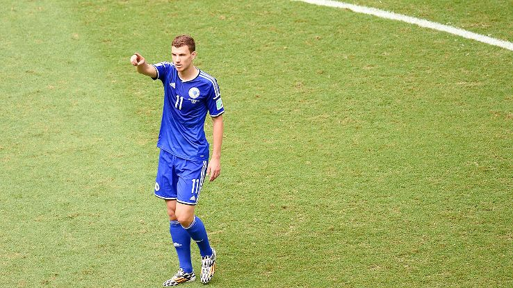 Edin Dzeko scored his first World Cup goal for Bosnia in their finale Wednesday.