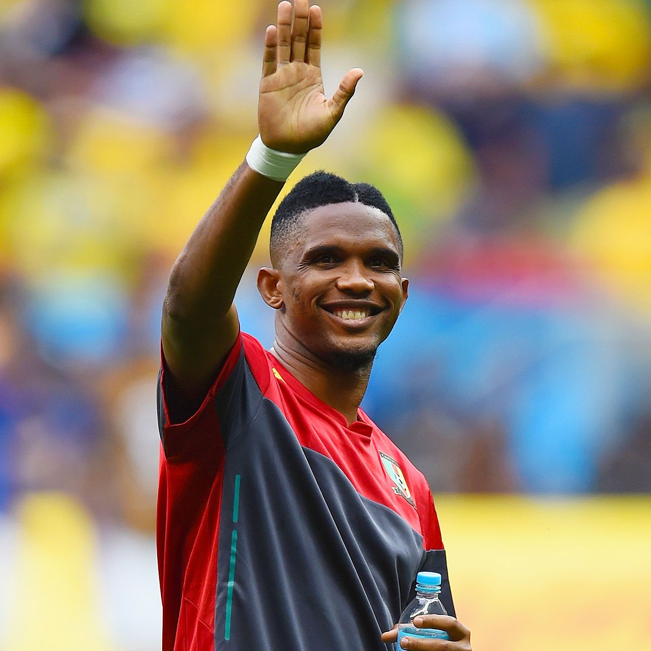 Samuel Eto'o made a new friend in Brazil during the World Cup.