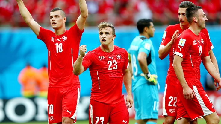 Xherdan Shaqiri tallied a hat trick in Switzerland's group stage finale versus Honduras.