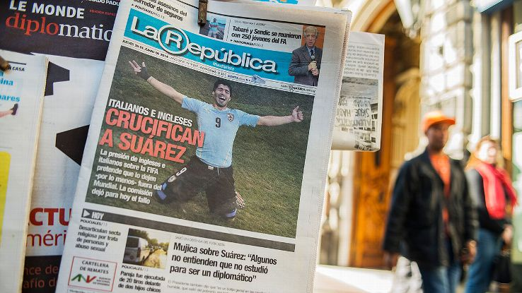 One of the headlines from a newspaper in Uruguay: