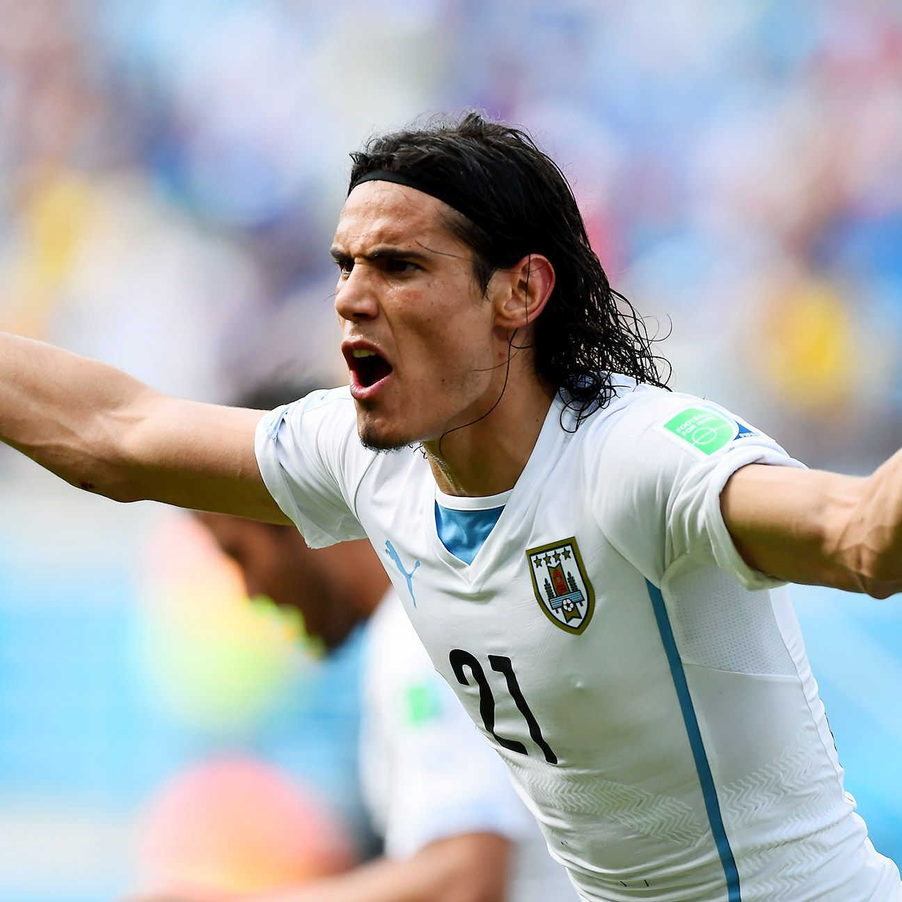Edinson Cavani will need to step up in Suarez's absence against Colombia.