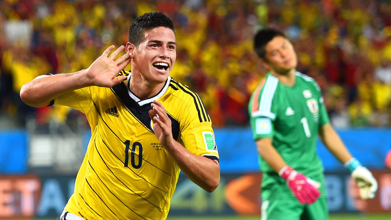 James Rodriguez has seized the spotlight at the 2014 World Cup with a string of superb performances.