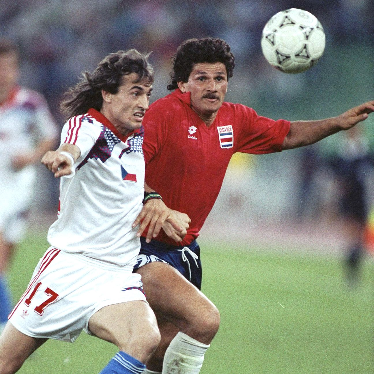 Mauricio Montero, right, and Costa Rica reached the round of 16 in their first World Cup appearance in 1990.