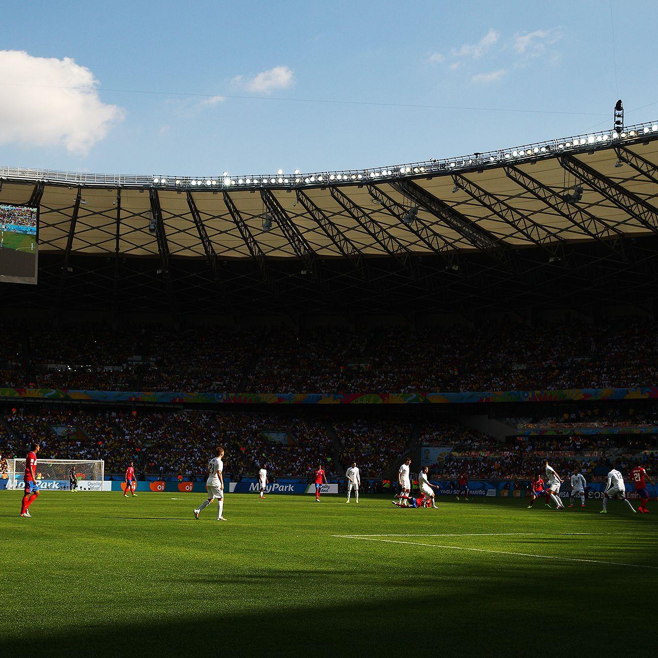 Belo Horizonte's Estadio Mineirao will play host to Saturday's big Brazil-Chile second-round clash.