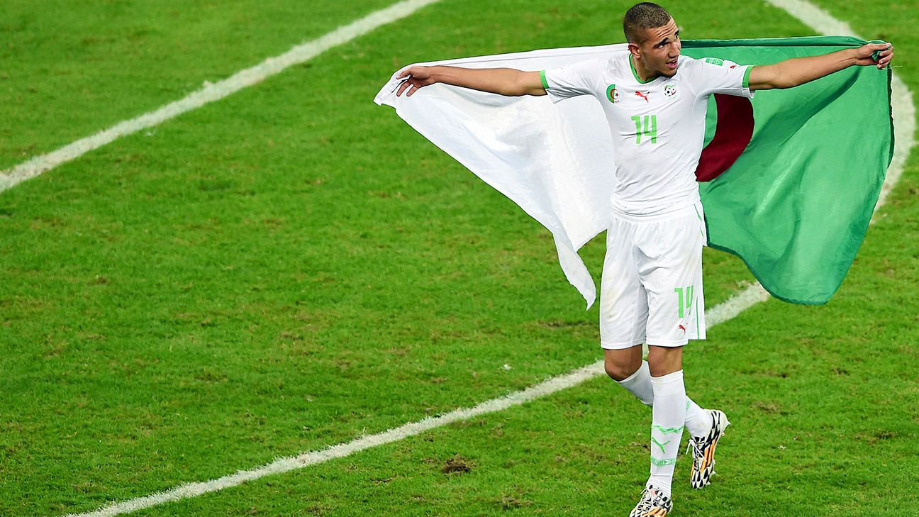 Tottenham's Nabil Bentaleb has helped Algeria reach the second round of the World Cup.