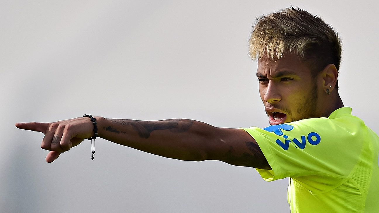 Neymar goes into Saturday's clash with Chile with four goals thus far in the World Cup.
