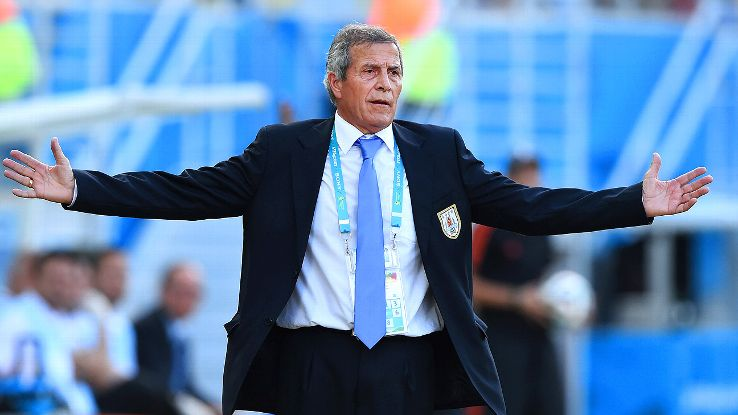 Oscar Washington Tabarez must shuffle the deck in several ways if his Uruguay side is to beat Colombia.