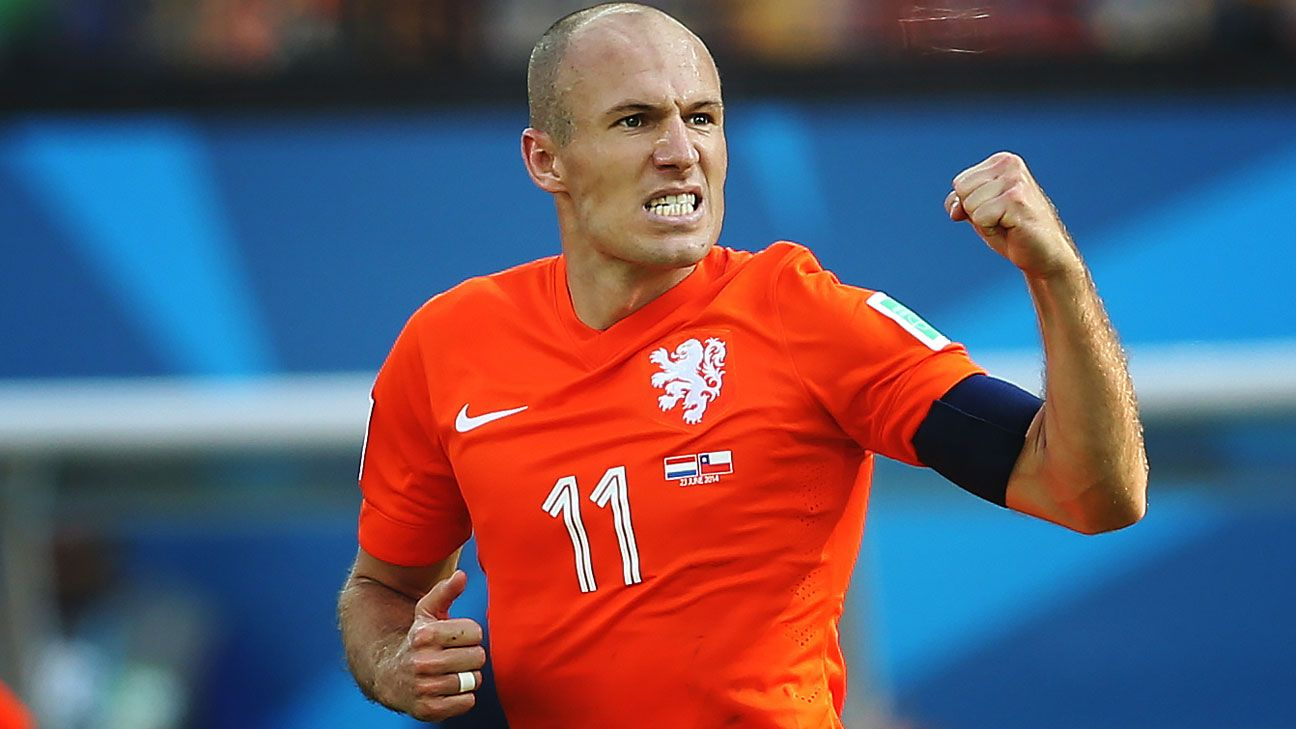 Arjen Robben has fiercely led the Netherlands into the World Cup quarterfinals.