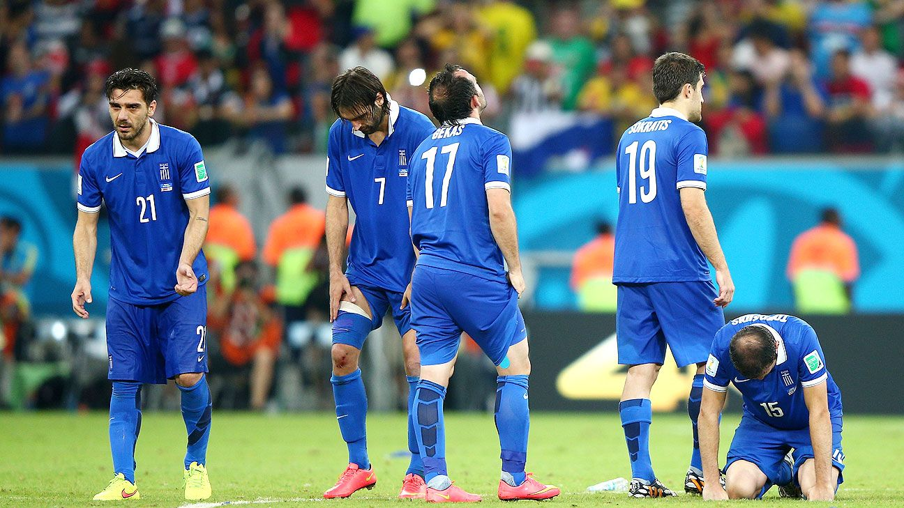 Greece were left to rue their missed chances against Costa Rica on Sunday.