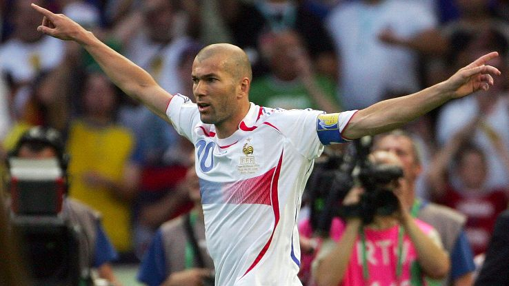 Zinedine Zidane came out of international retirement to lead France to the 2006 World Cup final.