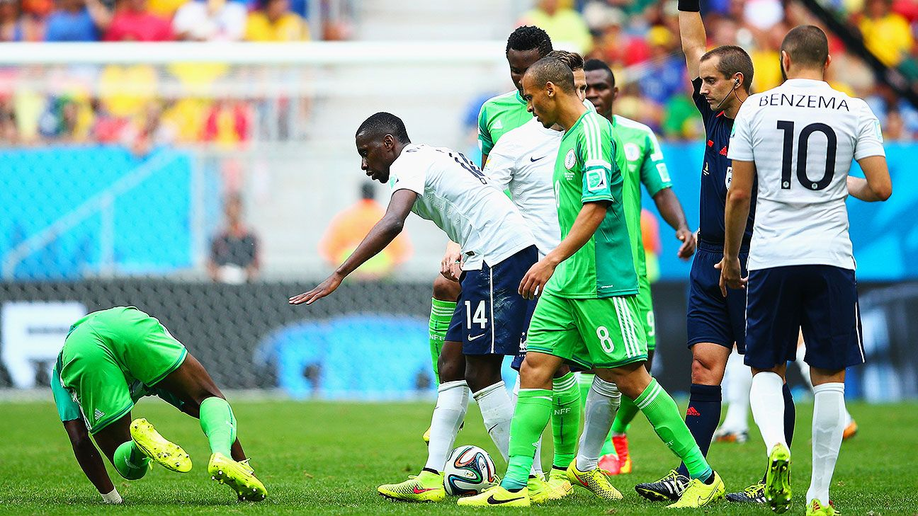 Geiger did a reasonable job with France vs. Nigeria although many felt he should have sent Matuidi off.