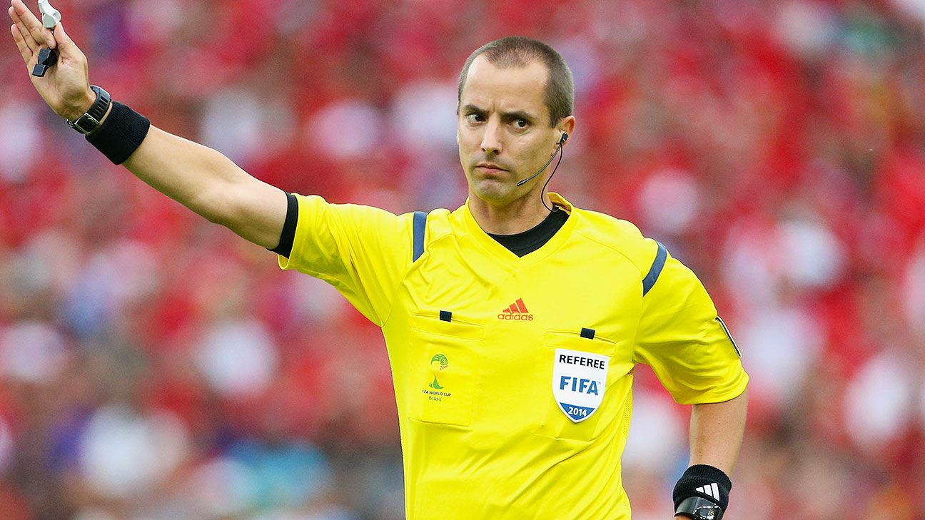 Mark Geiger's calm and composed refereeing has helped him make U.S. soccer history at the World Cup.