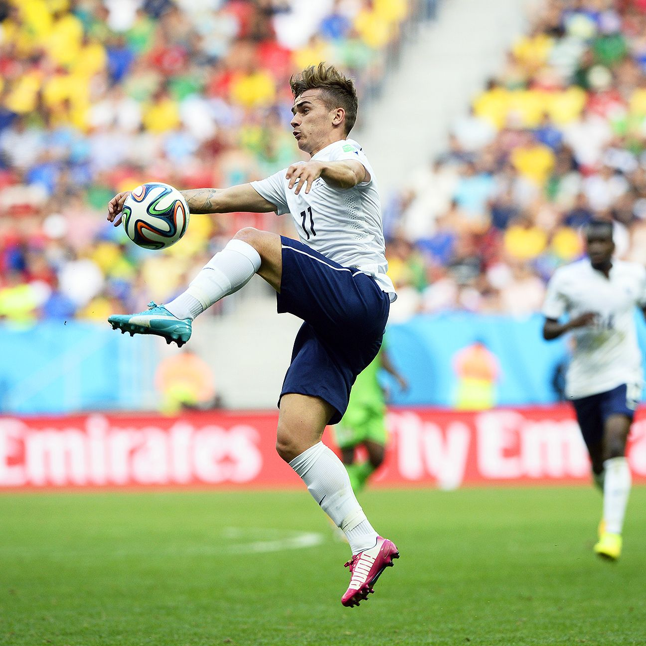 Antoine Griezmann sparked France to a late victory over Nigeria.