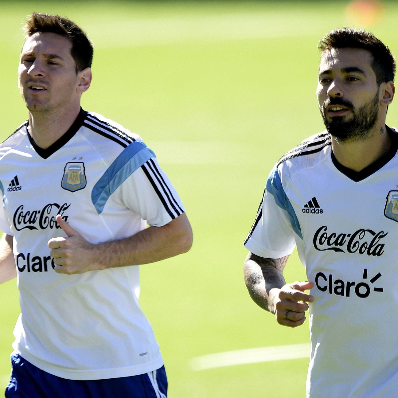 Ezequiel Lavezzi's pace down Argentina's right flank could prove pivotal in giving Lionel Messi more space in the middle.