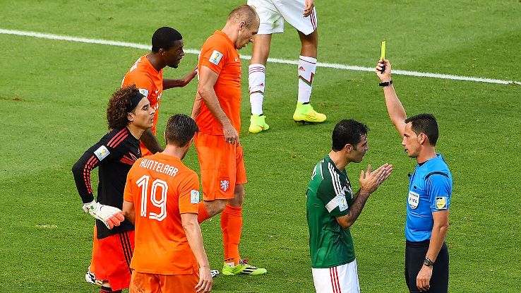 It's not been an easy tournament for refs -- see Pedro Proenca, Netherlands-Mexico -- but Geiger has impressed.