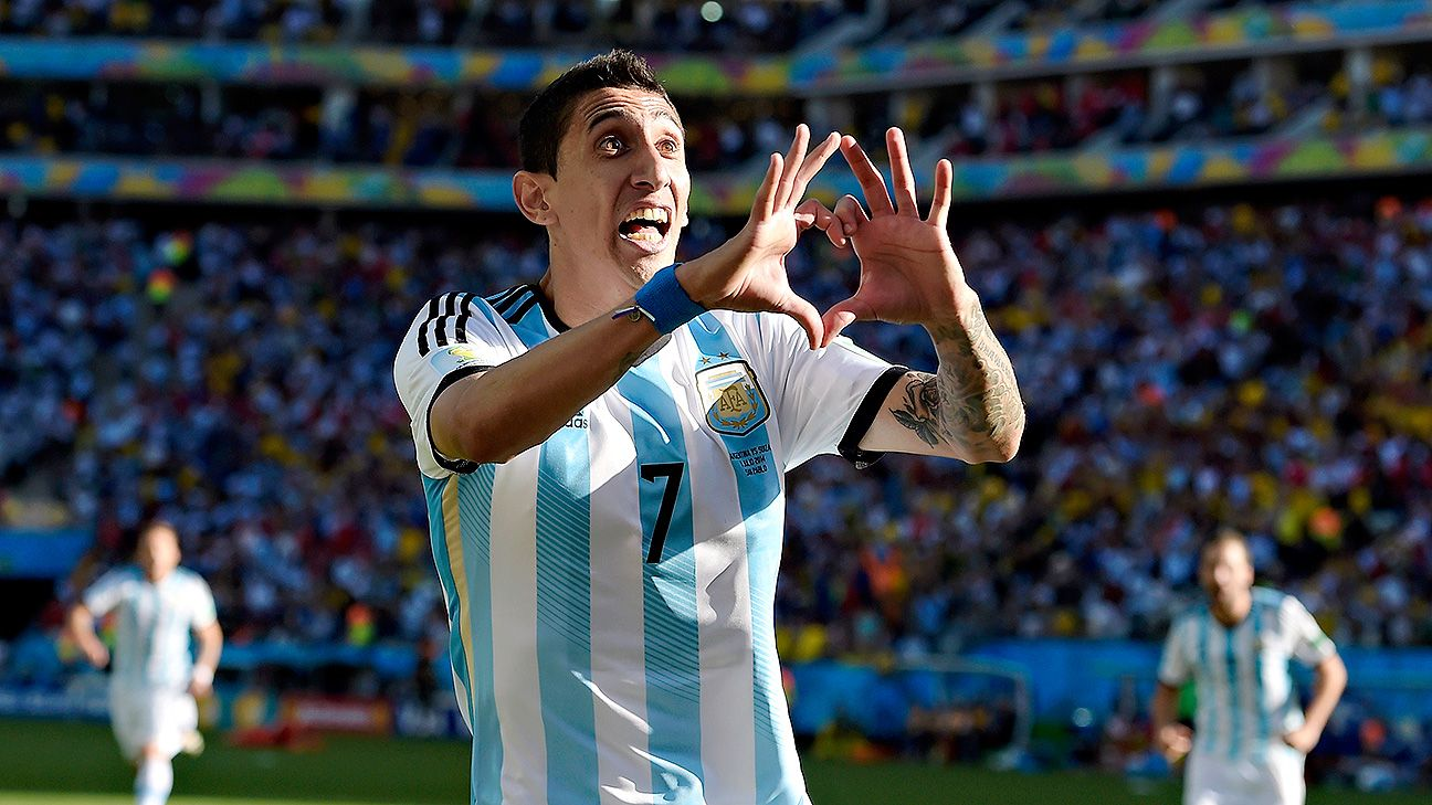 Angel di Maria struck late to send Argentina through to the quarterfinals.