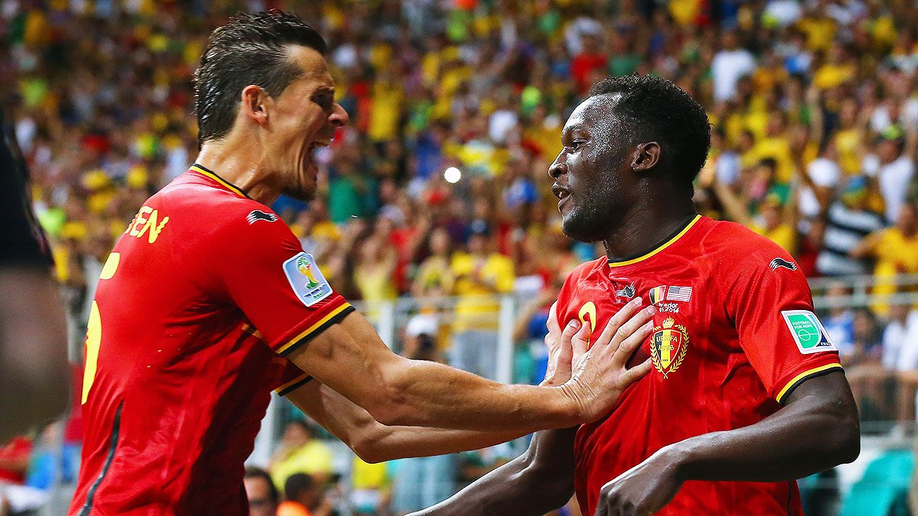Romelu Lukaku, right, sparked Belgium to a 2-1 win over the United States.