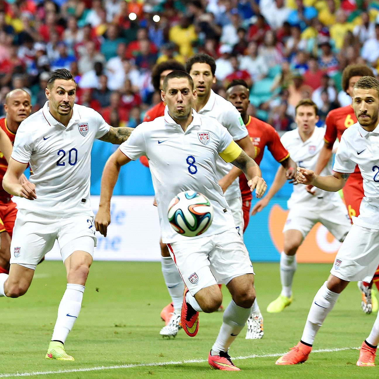 Clint Dempsey and the U.S. came up just shy against Belgium.