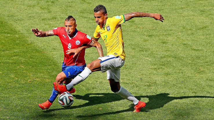 Luiz Gustavo's absence is a big concern for Brazil, who benefit from his aggression in defensive midfield.