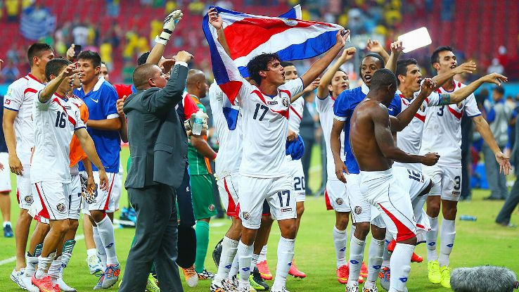 Costa Rica's progress through the World Cup is close to unprecedented.