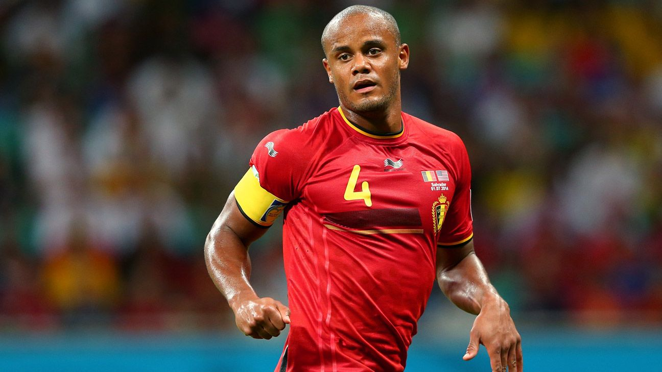 Belgium and Man City captain Vincent Kompany ruled out of Euro