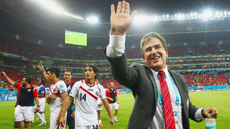 Costa Rica coach Jorge Luis Pinto gets to match wits with Dutch boss Louis van Gaal in Saturday's quarterfinal.