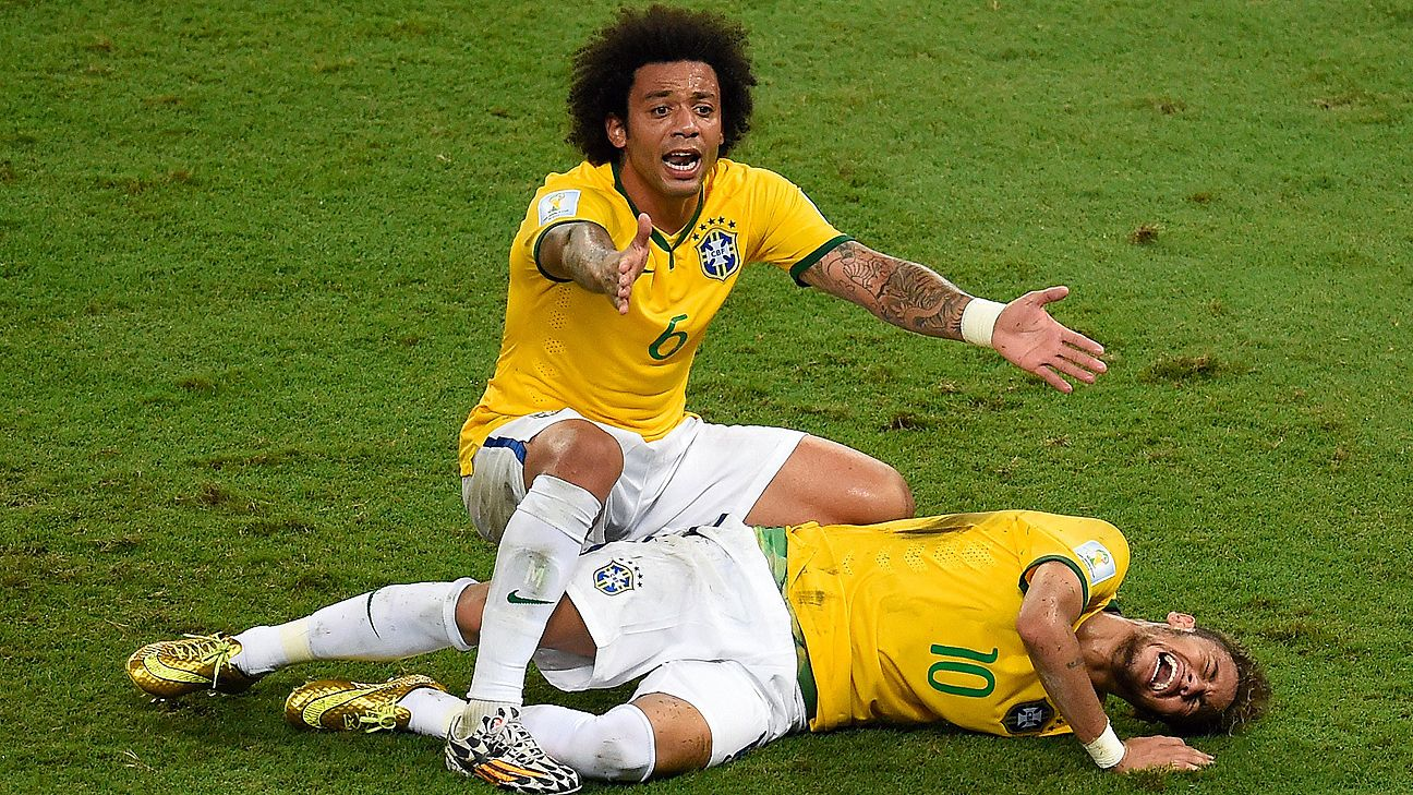 Neymar's 2014 World Cup ended prematurely following a back injury suffered in the quarterfinals.