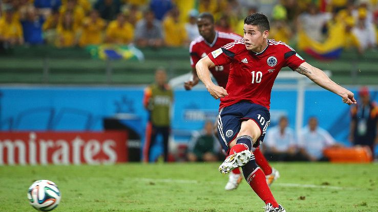 James Rodriguez gave Colombia hope with a second half penalty conversion, but Los Cafeteros would still fall short against Brazil.