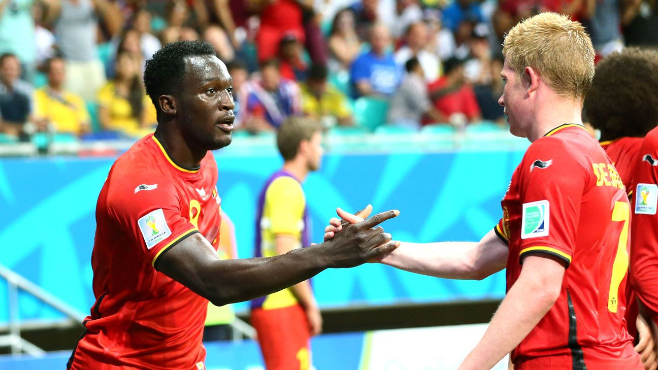 Lukaku and De Bruyne both struggled at Chelsea but are thriving for Belgium.