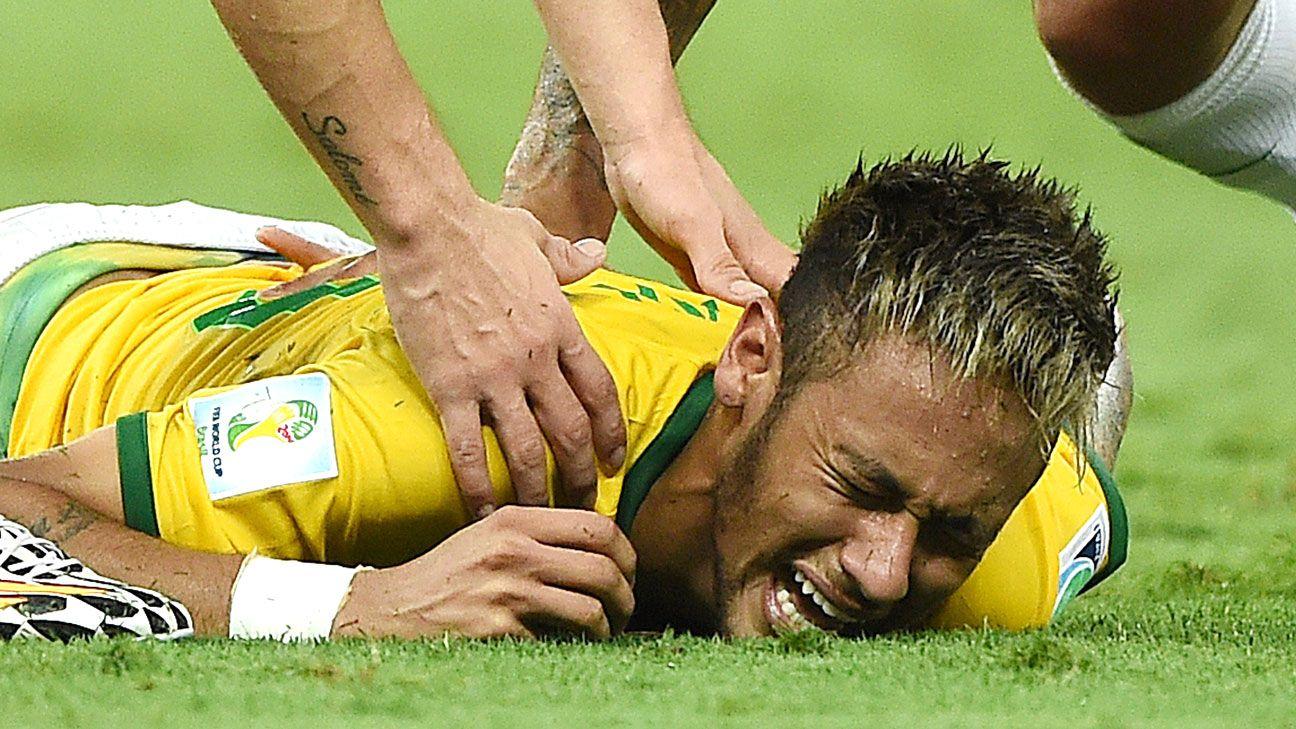 Brazil's Neymar has broken vertebra
