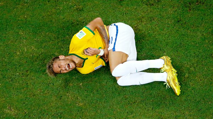 Neymar's injury has ruined what has been a superb debut World Cup for the young Brazilian star.