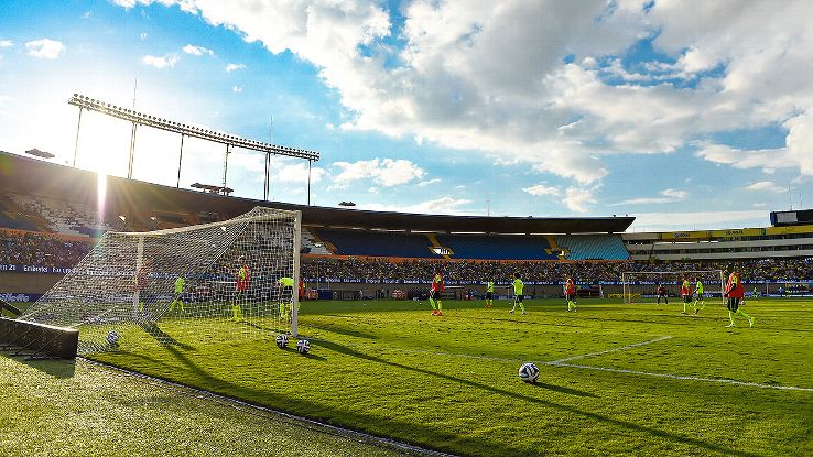 Goiania loves football. Two of their three clubs, Goias and Vila Nova, share the Estadio Serra Dourada.