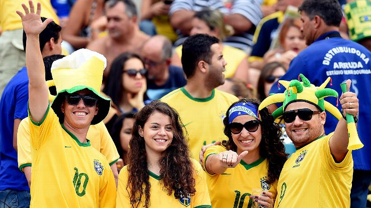 Brazil fans in Goiania didn't see the World Cup up close, but they are regular hosts of the Selecao.