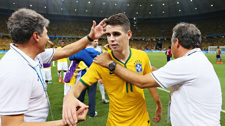 Oscar has yet to turn in a vintage performance at the World Cup, but with Neymar out, he must deliver.
