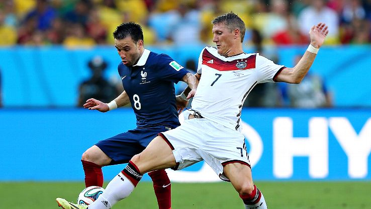 Bastian Schweinsteiger excelled versus France in a deep-lying midfield role. He'll need to do the same against Brazil.