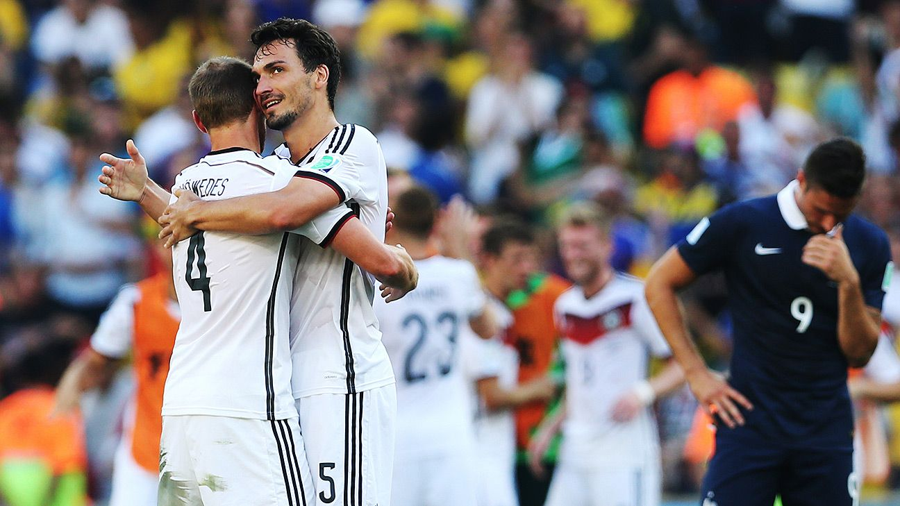 Germany put in a defensive effort of Italian vintage in order to dump the French out of the World Cup.