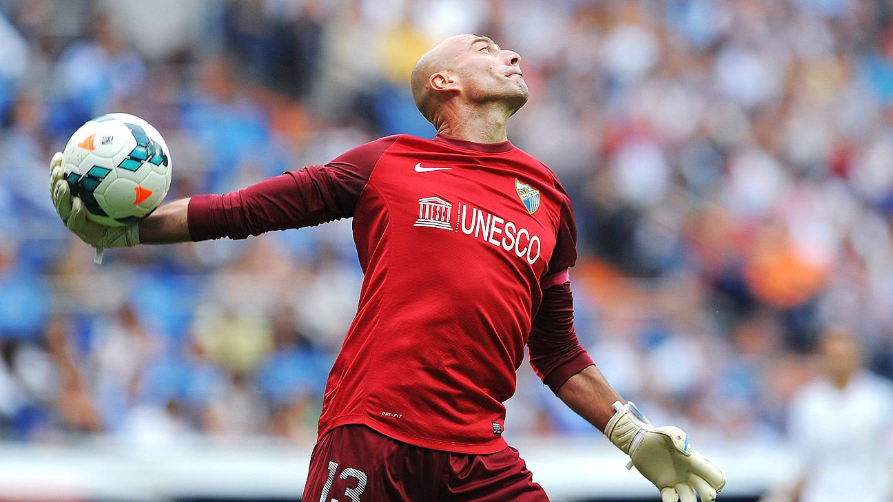 New Manchester City goalkeeper Willy Caballero previously played for City boss Manuel Pellegrini at Malaga.