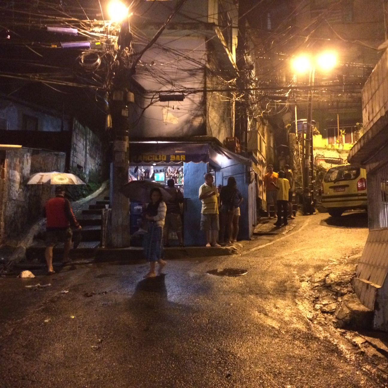 The streets of the Rocinha favela were eerily quiet after Brazil's shocking 7-1 loss against Germany on Tuesday.