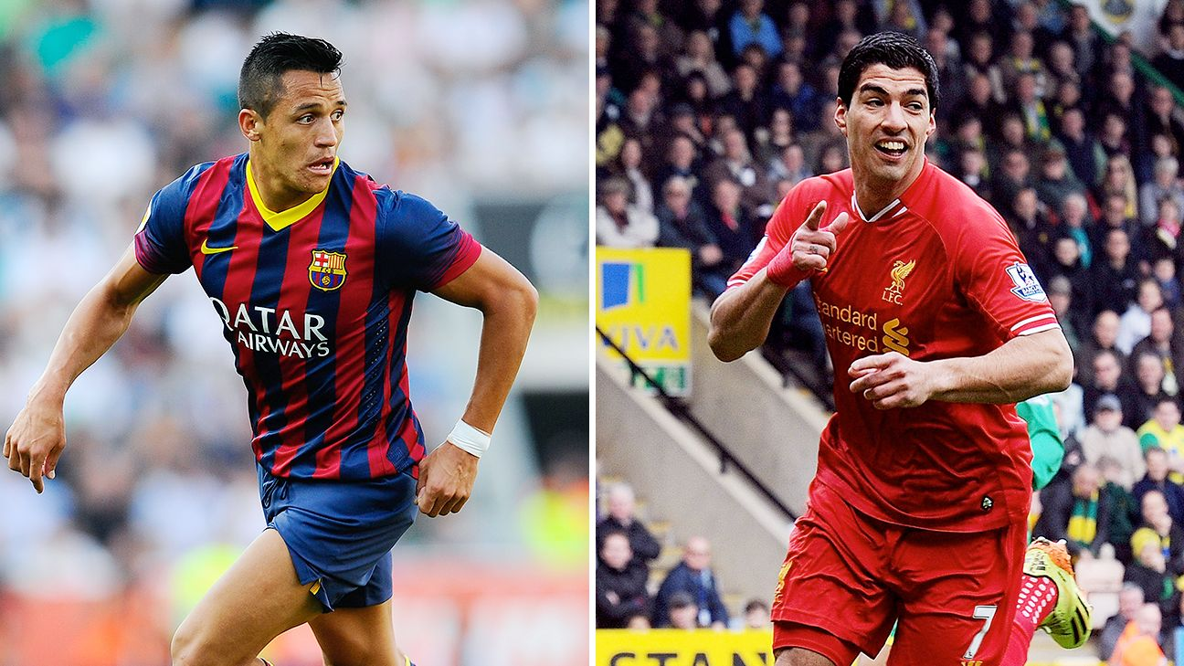An Alexis Sanchez departure from Barcelona could pave the way for Luis Suarez at the Camp Nou.
