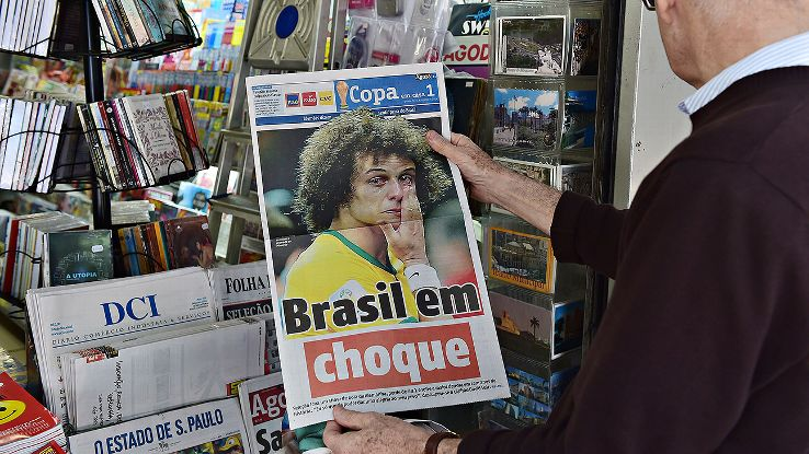 The media captured Brazil's stunned confusion, which quickly displaced any feelings of anger.