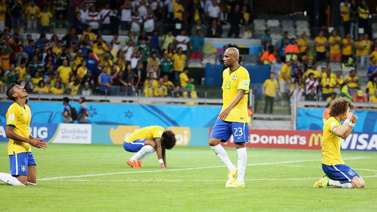 It's still mind-blowing that Brazil collapsed in the manner they did vs. Germany.