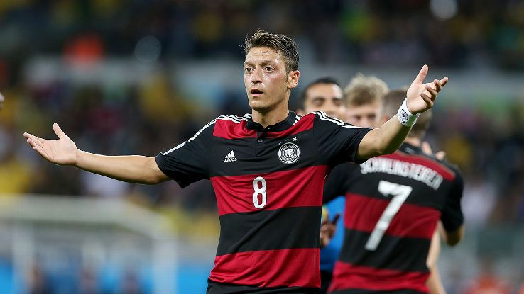 Ozil didn't impress against Brazil, not that it really mattered.