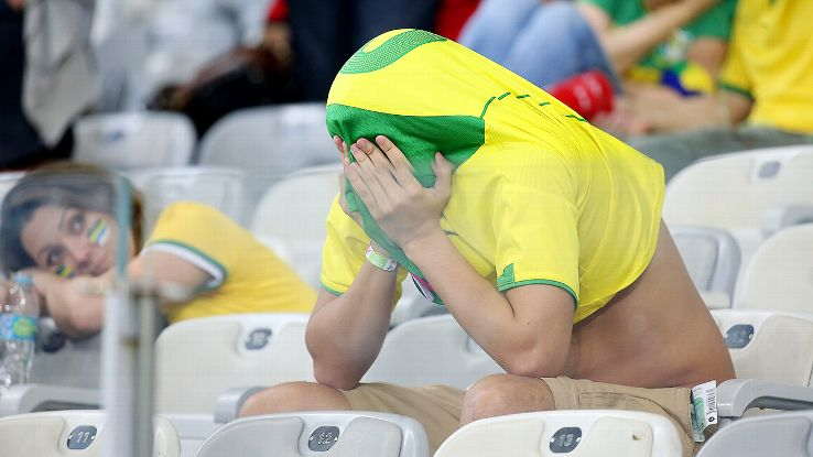 Brazil went into a state of shock and mourning after their 7-1 defeat to Germany.
