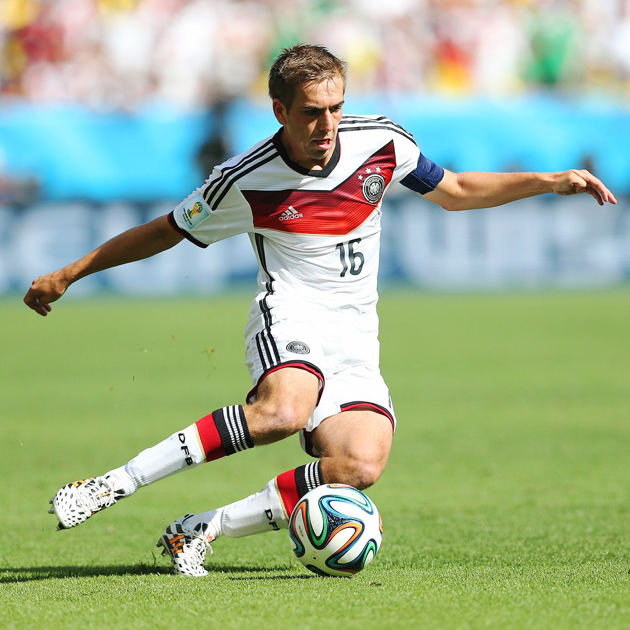 Philipp Lahm has played at both midfielder and fullback during the World Cup for Germany.