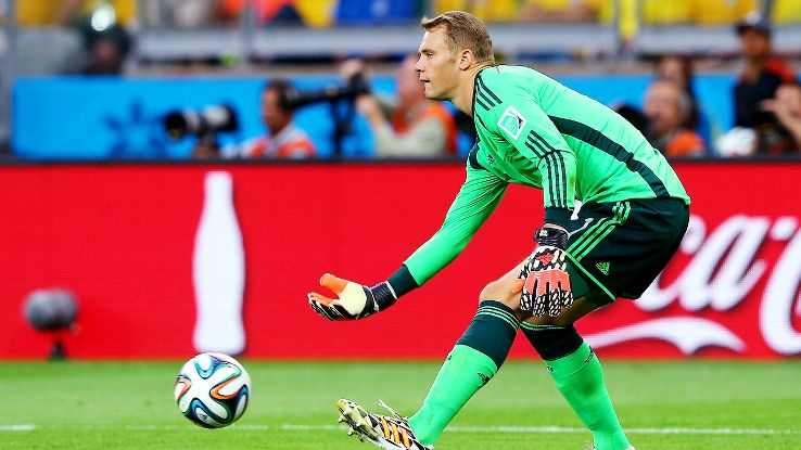 Germany goalkeeper Manuel Neuer has allowed just four goals in six matches at the World Cup.