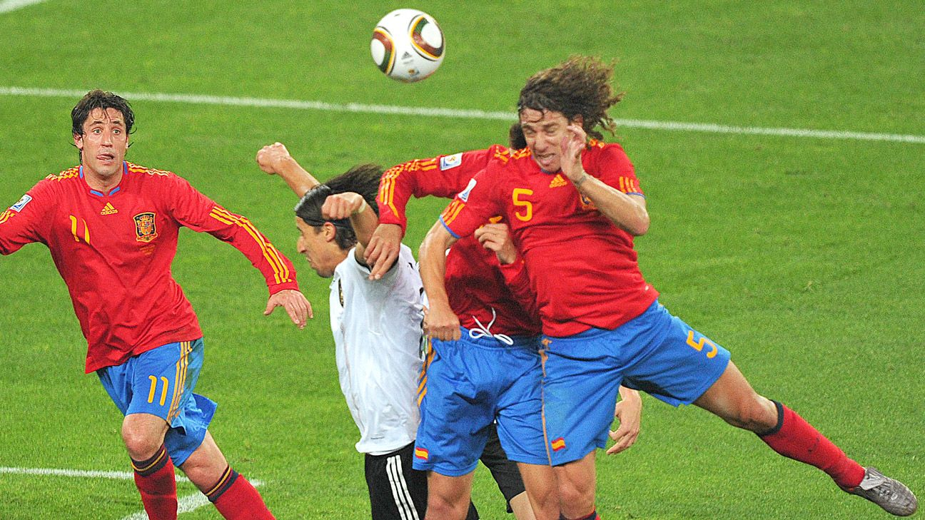 Puyol's goal in 2010 ended Germany's World Cup run but taught them a valuable tactical lesson.