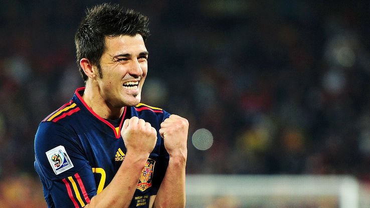 David Villa scored four go-ahead goals during Spain's 2010 World Cup campaign, including the quarterfinal winner versus Paraguay.
